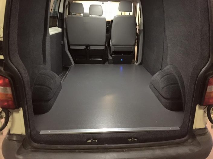 Van carpet lining and flooring