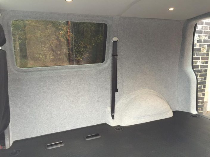 Van fitted windows, carpet lining and flooring