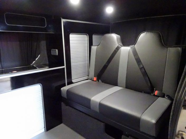 Renault Trafic camper rock and roll bed