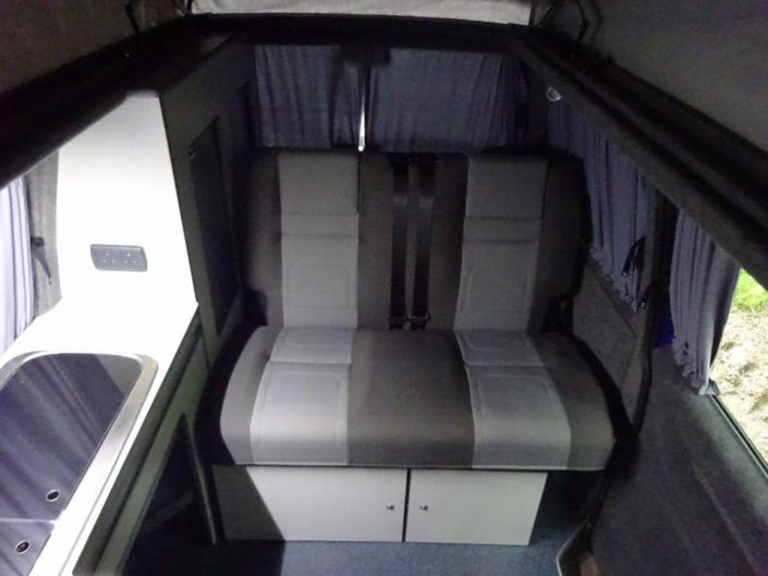 VW T4 conversion rock and roll bed