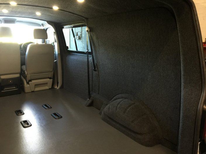 Van carpet lining and LED lights